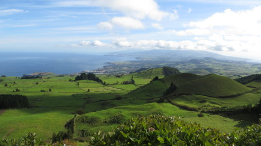 View over beautiful landscape at Sao Miguel