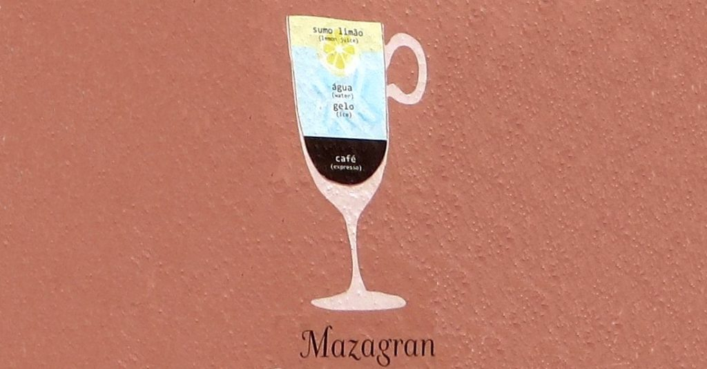 Mazagran coffee - iced coffee with lemon juice