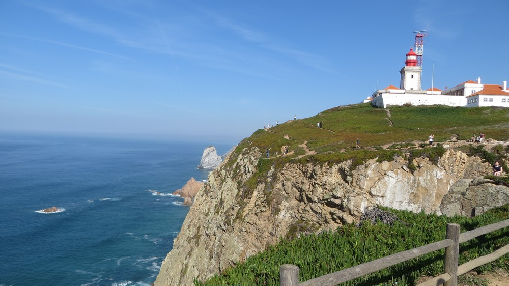 View at lighthouse with ocean at Cabo da Roca