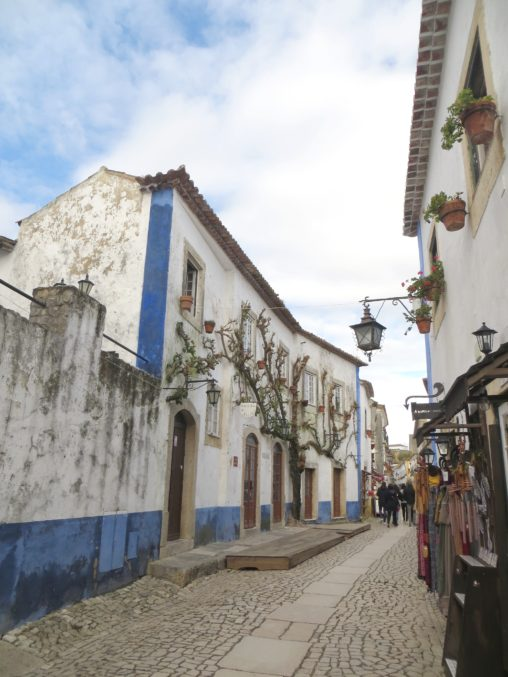 Little streets in Óbidos town in Portugal