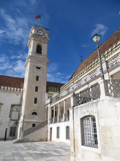 Beautiful architecture of Coimbra University in Portugal